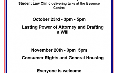 University of Sunderland Student Law Clinic talks at the Essence Centre