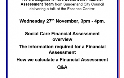 Social Care Financial Assessment overview talk at the Essence Centre